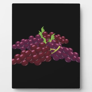 Glitch Food bunch of grapes Plaque