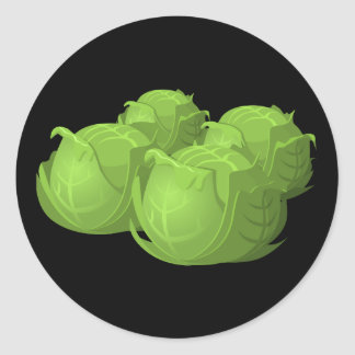 Glitch Food cabbage Classic Round Sticker