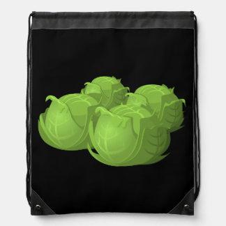 Glitch Food cabbage Drawstring Bag