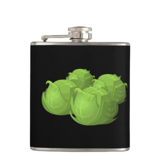Glitch Food cabbage Hip Flask