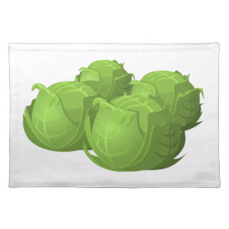 Glitch Food cabbage Placemat