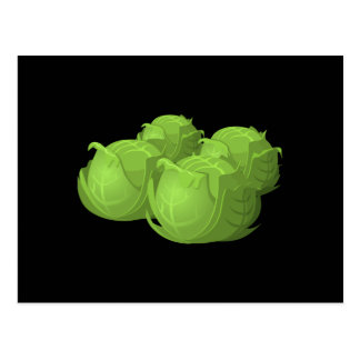 Glitch Food cabbage Postcard