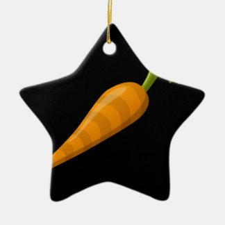 Glitch Food carrot Ceramic Ornament