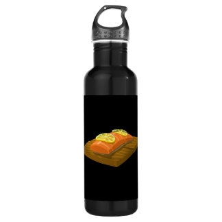 Glitch Food cedar plank salmon 710 Ml Water Bottle