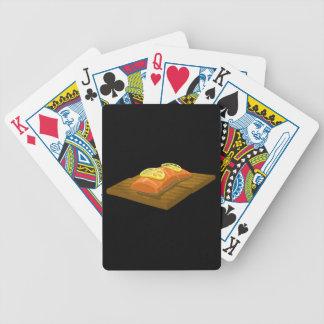 Glitch Food cedar plank salmon Bicycle Playing Cards