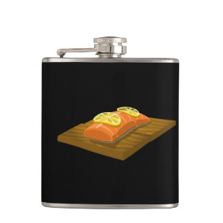 Glitch Food cedar plank salmon Hip Flask