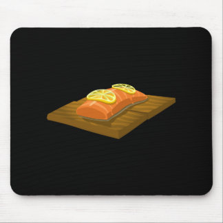 Glitch Food cedar plank salmon Mouse Pad