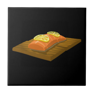 Glitch Food cedar plank salmon Tile