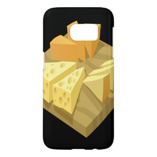 Glitch Food cheese plate Samsung Galaxy S7 Case