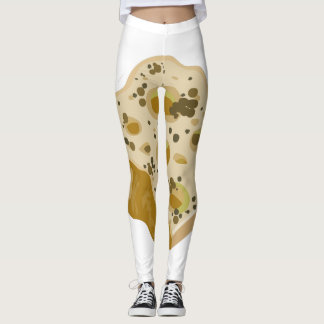 Glitch Food cheese very very stinky Leggings