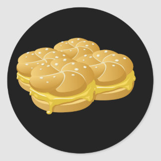 Glitch Food cheezy sammich Classic Round Sticker