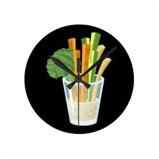 Glitch Food common crudites Round Clock