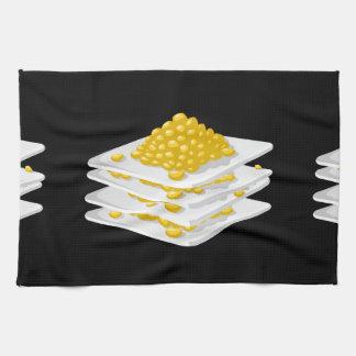 Glitch Food corn off the cob Kitchen Towel