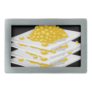 Glitch Food corn off the cob Rectangular Belt Buckles