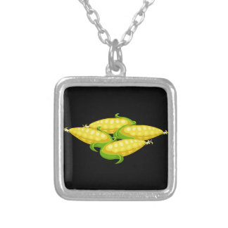 Glitch Food corn Silver Plated Necklace