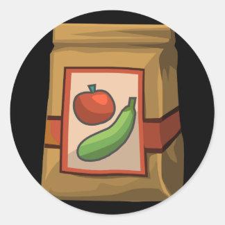 Glitch Food death to veg Classic Round Sticker