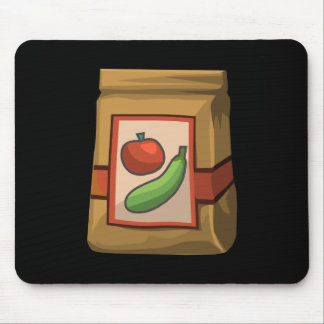 Glitch Food death to veg Mouse Pad