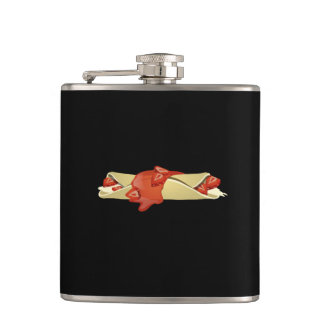Glitch Food divine crepes Hip Flask