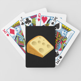 Glitch Food fancy cheese Bicycle Playing Cards