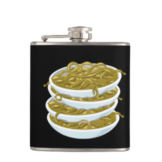 Glitch Food fried noodles Hip Flask