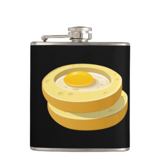 Glitch Food frog in a hole Hip Flask