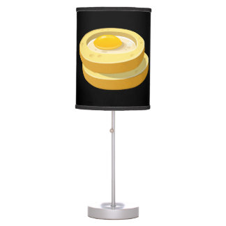 Glitch Food frog in a hole Table Lamps