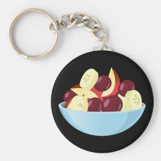 Glitch Food fruit salad Basic Round Button Keychain