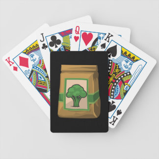 Glitch Food green Bicycle Playing Cards