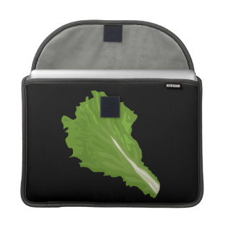 Glitch Food green leaf Sleeve For MacBooks