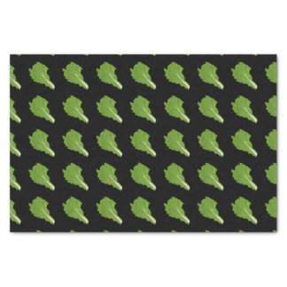 Glitch Food green leaf Tissue Paper