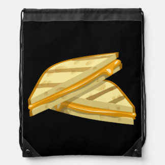 Glitch Food grilled cheese Drawstring Bag