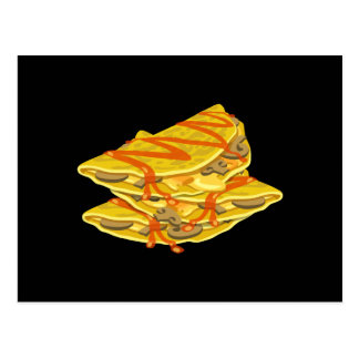 Glitch Food hearty omelet Postcard