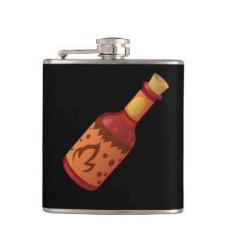 Glitch Food hot n fizzy sauce Hip Flask