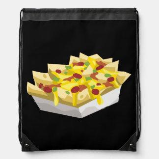 Glitch Food hungry nachos Drawstring Bag