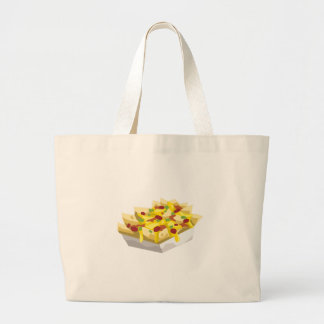 Glitch Food hungry nachos Large Tote Bag