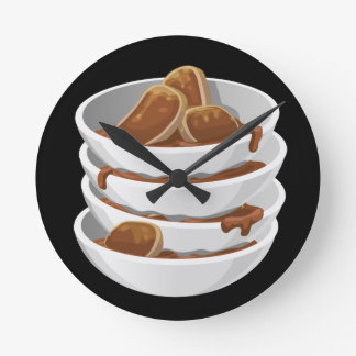 Glitch Food ixstyle braised meat Round Clock