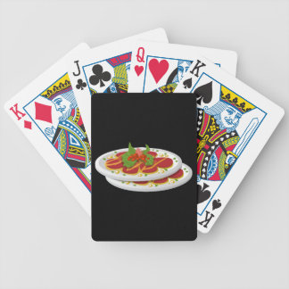 Glitch Food juicy carpaccio Bicycle Playing Cards