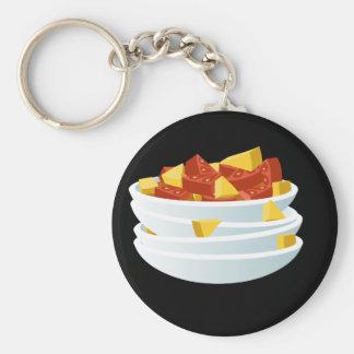 Glitch Food lazy salad Basic Round Button Keychain