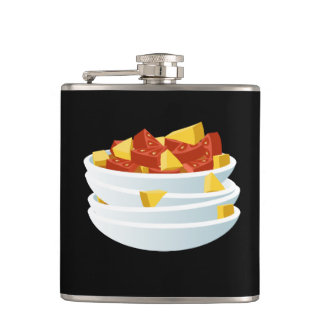 Glitch Food lazy salad Hip Flask