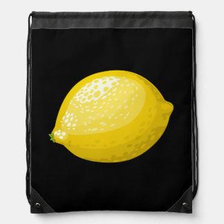 Glitch Food lemon Drawstring Bag