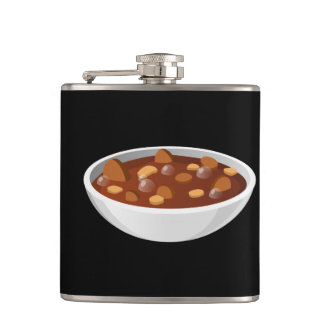 Glitch Food meat gumbo Hip Flask
