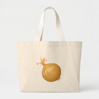 Glitch Food onion Large Tote Bag