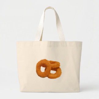 Glitch Food onion rings Large Tote Bag