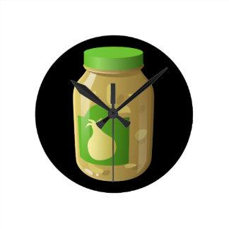 Glitch Food onion sauce Round Clock