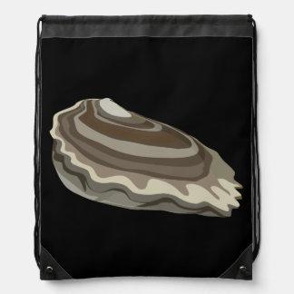 Glitch Food oysters ocean Drawstring Bag
