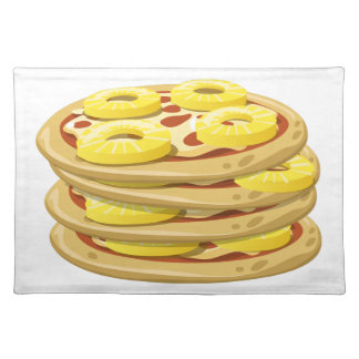 Glitch Food papl upside down pizza Placemat