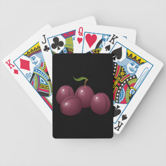 Glitch Food plum Bicycle Playing Cards