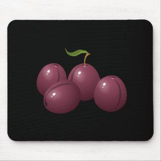 Glitch Food plum Mouse Pad