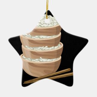 Glitch Food proper rice Ceramic Ornament