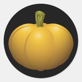 Glitch Food pumpkin Classic Round Sticker